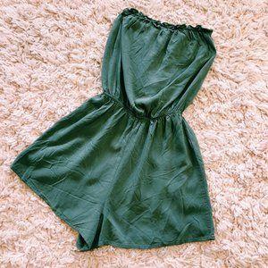H&M Pants & Jumpsuits - H&M Olive Green Strapless Short Romper